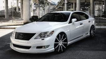 White lexus tuning luxury wallpaper