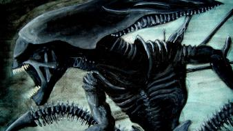 Xenomorph alien queen artwork wallpaper