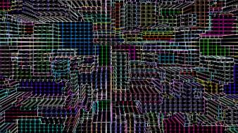 Abstract lights grid colors cities ulyseto seizure neon wallpaper