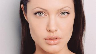 Angelina jolie face wallpaper