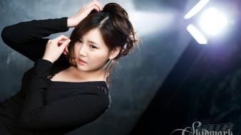 Asians korean han ga eun black hair wallpaper