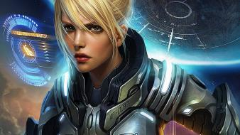 Blondes starcraft fantasy art nova ghost (starcraft) wallpaper