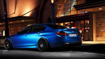 Blue cars tuning bmw m5 sports wallpaper