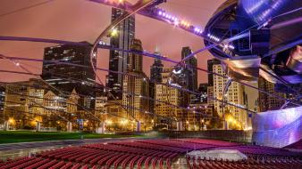Cityscapes chicago night usa wallpaper