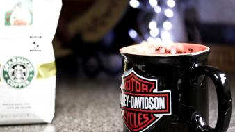 Coffee cups objects harley-davidson wallpaper