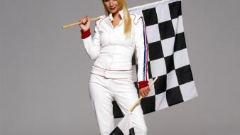 Denise van outen race flag wallpaper