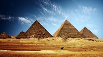 Desert egypt egyptian ancient civilization skyscapes pyramids Wallpaper