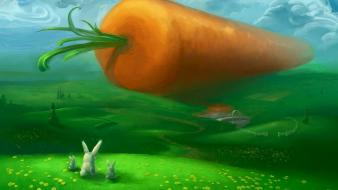Funny carrots wallpaper