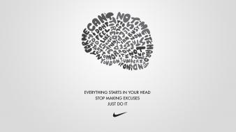 Inspirational simple background motivation just do it wallpaper