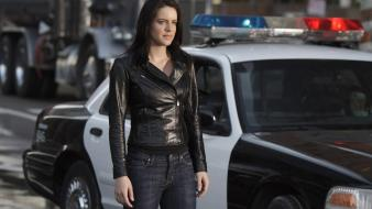 Michelle Ryan Police Car wallpaper
