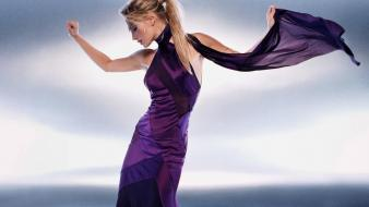 Molly Sims Violet Dress wallpaper