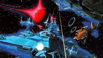 Planets spaceships battles science fiction artwork gradius Wallpaper