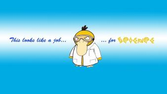 Pokemon science psyduck scientists job wallpaper