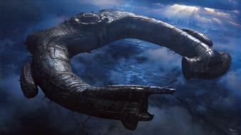 Prometheus spaceships artwork wallpaper