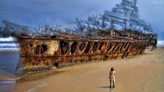 Ships wrecks ghost ship wallpaper