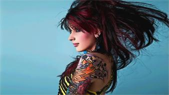 Tattoos women redheads wallpaper
