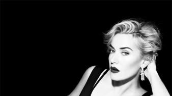 White kate winslet actress vogue magazine sofa Wallpaper