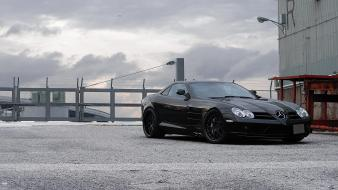 Barbed wire mclaren front view mercedes-benz slr wallpaper