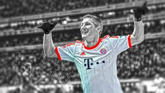 Bastian schweinsteiger football player bundesliga bayern munchen wallpaper