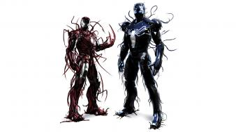 Carnage iron man marvel comics venom fan art wallpaper
