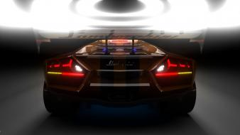 Cars lamborghini aventador sports backlights wallpaper