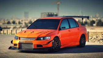 Cars mitsubishi vehicles lancer evolution tuned car spoilers Wallpaper