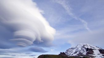 Clouds little national park washington mount rainier Wallpaper