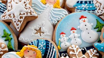 Cookies christmas new year snowman santa lovely wallpaper