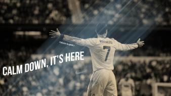Cristiano ronaldo football star real madrid cf wallpaper