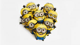 Despicable me hearts minions wallpaper
