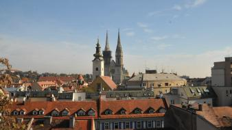 Europe croatia cathedral zagreb wallpaper