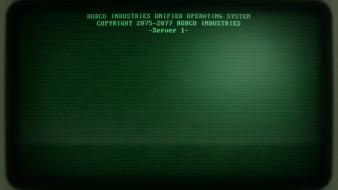 Fallout 3 green terminals wallpaper