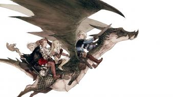 Final fantasy video games dragons wallpaper