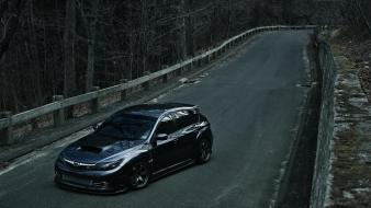 Forest cars subaru impreza wrx sti wallpaper