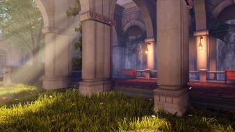 Grass garden bioshock infinite sunray wallpaper