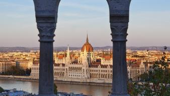 Hungary budapest danube river hungarian parliament building wallpaper