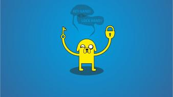 Jake the dog blue background stylized greenchay wallpaper