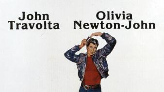 John travolta movie posters olivia newton-john grease wallpaper