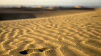 Landscapes sand footsteps wallpaper