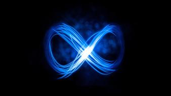 Long exposure infinity light painting wallpaper