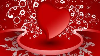 Love red hearts tablet wallpaper