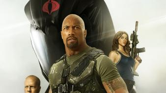 Movie posters dwayne johnson g.i. joe retaliation wallpaper