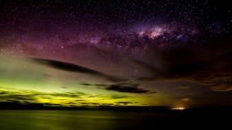 Nature stars aurora borealis milky way skyscapes skies wallpaper