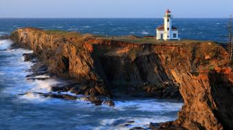 Nature usa lighthouses oregon wallpaper
