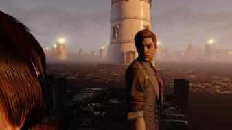 Ocean lighthouses bioshock infinite booker dewitt wallpaper