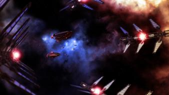 Outer space spaceships babylon 5 digital art wallpaper