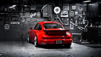 Porsche cars selective coloring 911 turbo Wallpaper