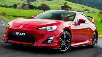 Red cars toyota outdoors vehicles gt86 ft-86 wallpaper