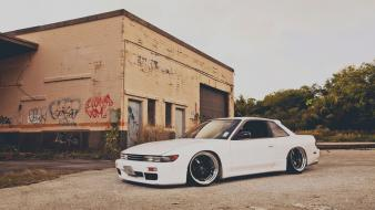 Rims white tuned nissan silvia s13 stance wallpaper