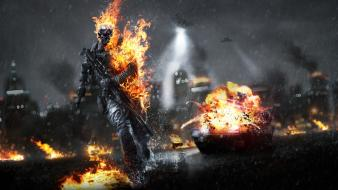 Skulls battlefield rain fire dice photo manipulation manipulations Wallpaper